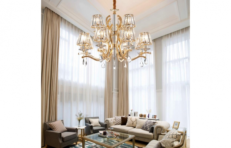 客厅轻奢水晶吊灯