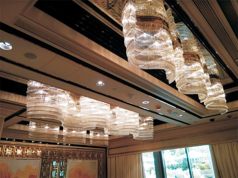 酒店水晶吊灯工程定制